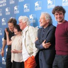'Pasolini' a Venezia 2014 - Abel Ferrara con alcuni protagonisti del suo film