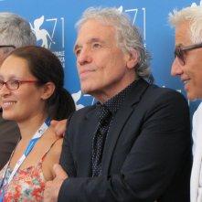 'Pasolini' a Venezia 2014 - il cast del film con il regista