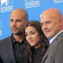 'Perez' a Venezia 2014 - Simona Tabasco tra Luca ZIngaretti e Marco D'Amore