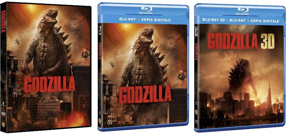 Le cover homevideo di Godzilla