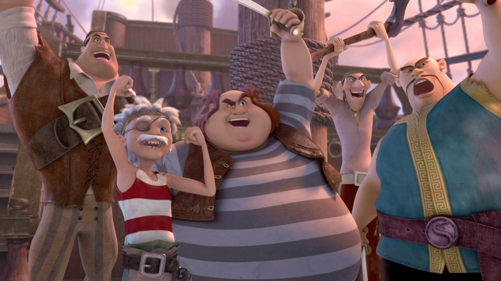 Trilli e la nave pirata: i pirati in una scena del film