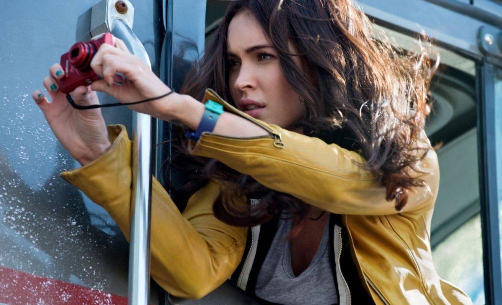 Megan Fox in una scena di Tartarughe Ninja