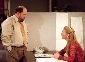Friends: Jason Alexander e Lisa Kudrow nell'episodio L'ultimo giorno di Rosita
