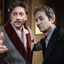 La buca: Sergio Castellitto con Rocco Papaleo in un'immagine del film