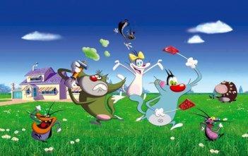Oggy e i maledetti scarafaggi: un momento della serie animata