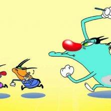 Oggy e i maledetti scarafaggi: una scena della serie