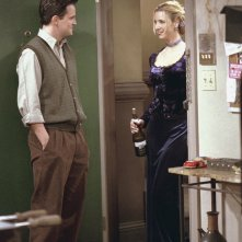 Friends: Matthew Perry e Lisa Kudrow nell'episodio Io so che tu sai che io lo so