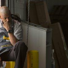 Denzel Washington in una scena del thriller The Equalizer - Il vendicatore