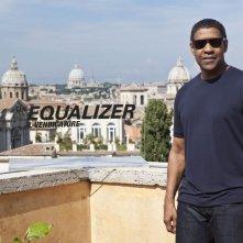 The Equalizer - Il vendicatore: Denzel Washington durante il photocall della presentazione romana