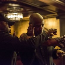 The Equalizer - Il vendicatore: Denzel Washington sul set con Antoine Fuqua e Ales Veadov