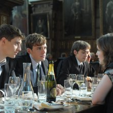 Posh: Sam Claflin con Max Irons e Holly Grainger in una scena del film