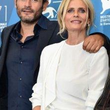 La vita oscena: il produttore Gianluca De Marchi con Isabella Ferrari a Venezia 2014