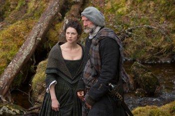 Outlander: Graham McTavish e Caitriona Balfe nell'episodio Rent