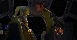 Star Wars Rebels: Kanan e Hera in una scena della premiere