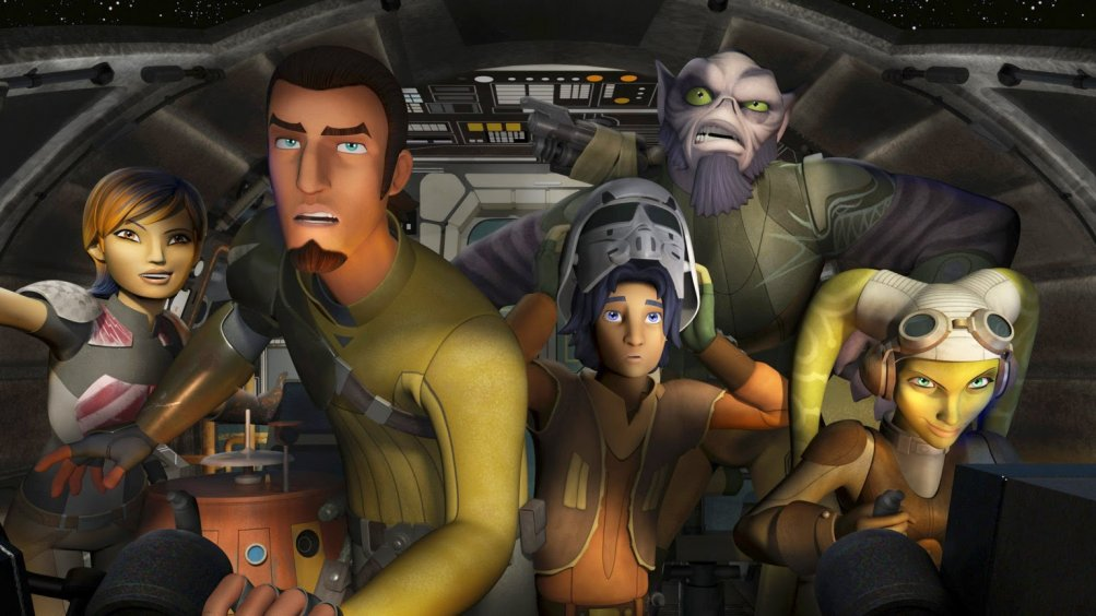 Star Wars Rebels: la gang in una scena della premiere