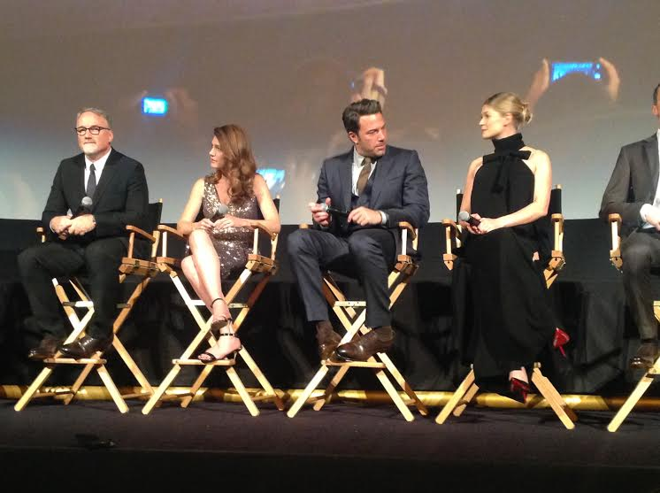 Gone Girl - il cast e regista del film durante la conferenza stampa del film al NYFF 2014