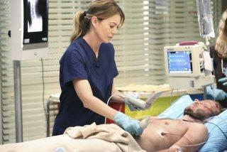 Grey's Anatomy: un'immagine di Ellen Pompeo nell'episodio I Must Have Lost It on the Wind'