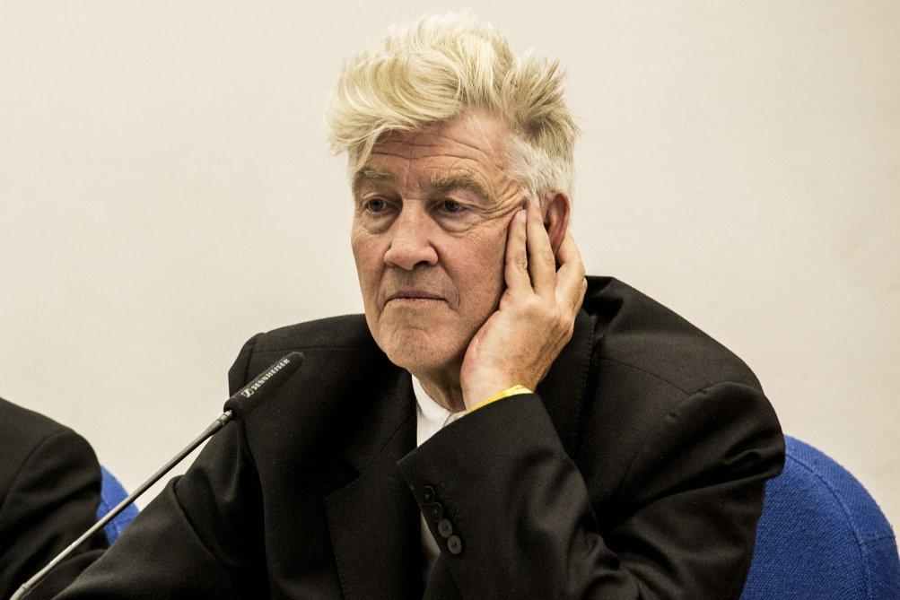 David Lynch pensieroso al Lucca Film Festival