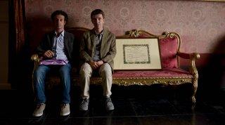 Salvatore Ficarra e Valentino Picone in una scena di Andiamo a quel paese