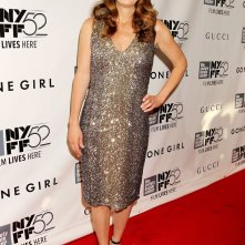 L'amore bugiardo - Gone Girl: la scrittrice Gillian Flynn sul red carpet del 52° NYFF