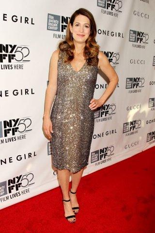 L'amore bugiardo - Gone Girl: la scrittrice Gillian Flynn sul red carpet del 52° NYFF