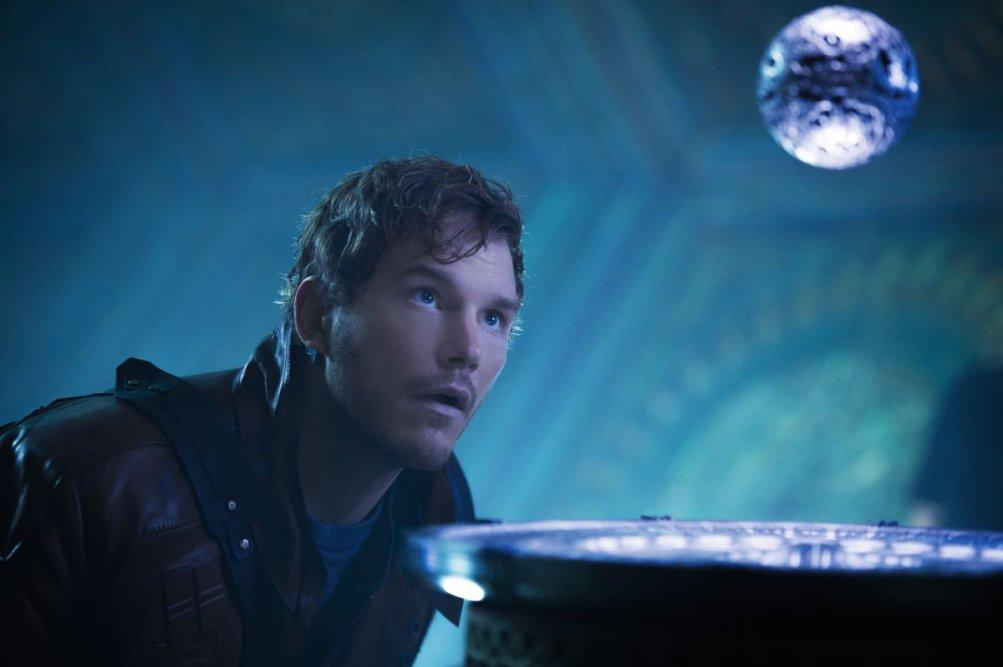 Guardians of the Galaxy: un primo piano di un perplesso Chris Pratt