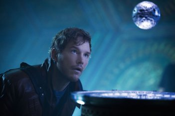 Guardians of the Galaxy: un primo piano di un perplesso Chris Pratt