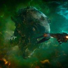 Una scena di Guardiani della Galassia