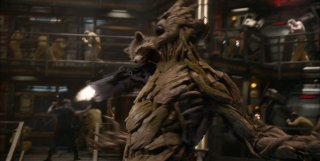 Guardians of the Galaxy: una concitata scena del film