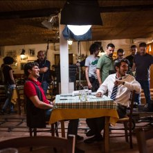 Tutto molto bello: Paolo Ruffini insieme a Frank Matano in un'immagine dal set