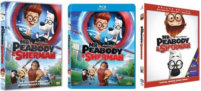 le cover homevideo di Mr. Peabody & Sherman