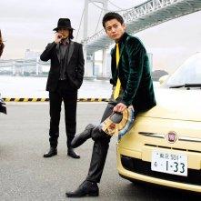 Lupin - Il Film: Oguri Shun con Tetsuji Tamayama e Meisa Kuroki in una foto promozionale