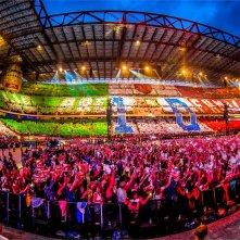 Lo stadio di San Siro in una scena di One Direction: Where We Are – Il Film concerto