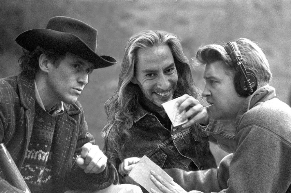 Twin Peaks - Frank Silva sul set con David Lynch