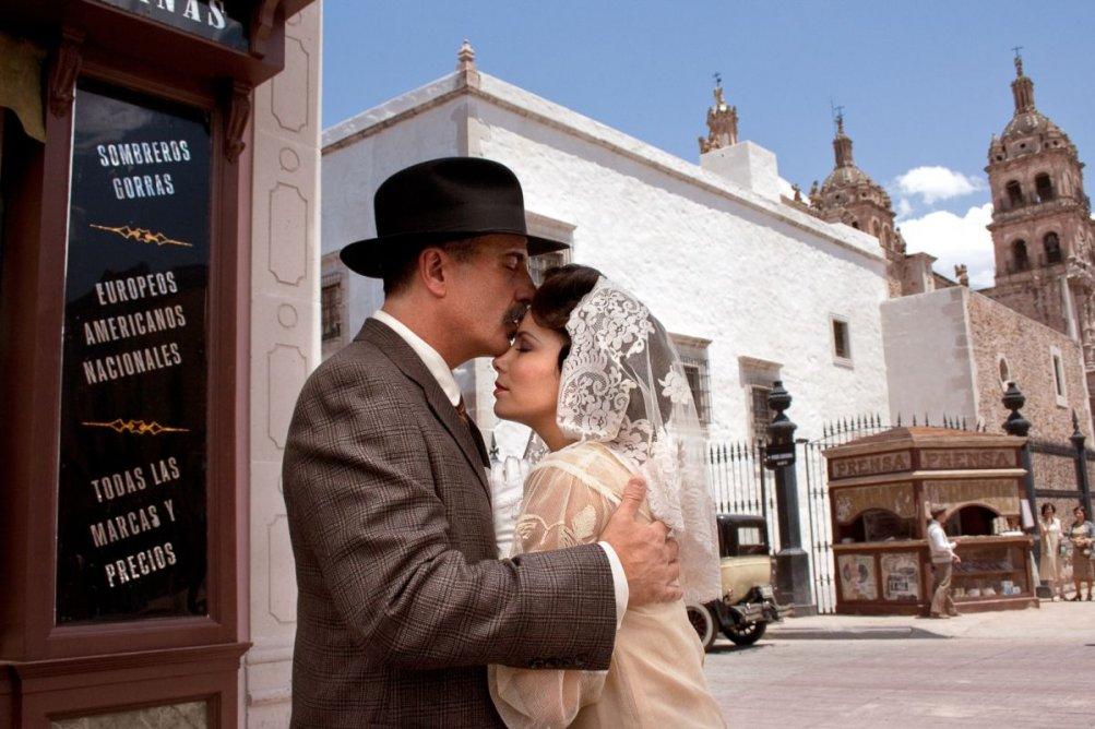 Eva Longoria con Andy Garcia in Cristiada
