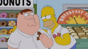 The Simpsons Guy: Peter e Homer in un'immagine dal crossover Simpson/Griffin