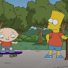 The Simpsons Guy: una foto di scena del crossover Simpson/Griffin