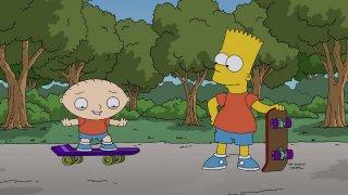 The Simpsons Guy: una foto di scena del crossover Simpson/Griffin