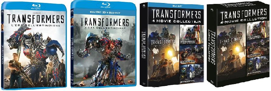 Le cover di Transformers 4