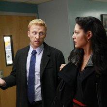 Grey's Anatomy: Kevin McKidd e Sara Ramirez in una scena di Got to Be Real