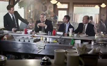 Robert Downey Jr. con Robert Duvall, Vincent D'Onofrio e Jeremy Strong in The Judge