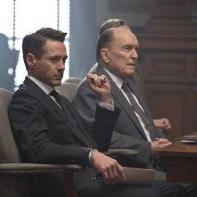 The Judge: Robert Downey Jr. con Robert Duvall in una scena del film