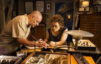 Lo straordinario viaggio di T.S. Spivet: Helena Bonham Carter insieme al regista Jean-Pierre Jeunet sul set del film