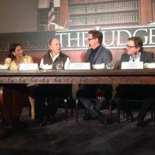 The Judge: un'immagine della conferenza stampa romana