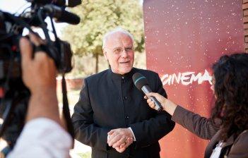 Una foto di Marco Muller nell'ambito del Festival del Film di Roma