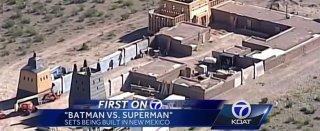 Batman v Superman: Dawn of Justice - Un'immagine aerea del set in costruzione in New Mexico