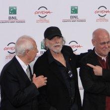 Roma 2014: Paolo Ferrari, Tomas Milian ed il direttore Marco Muller al photocall di apertura