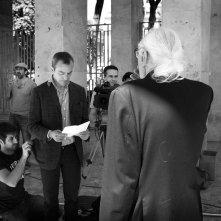 Giulio Cesare - Compagni di scuola: il regista Antonello Sarno sul set del film con Marco Pannella