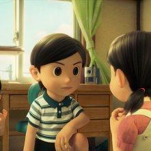 Doraemon: Nobita con Shizuka e Dekisugi in una scena del film d'animazione