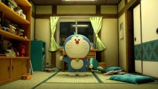 Doraemon: il gatto robot in una scena del film d'animazione